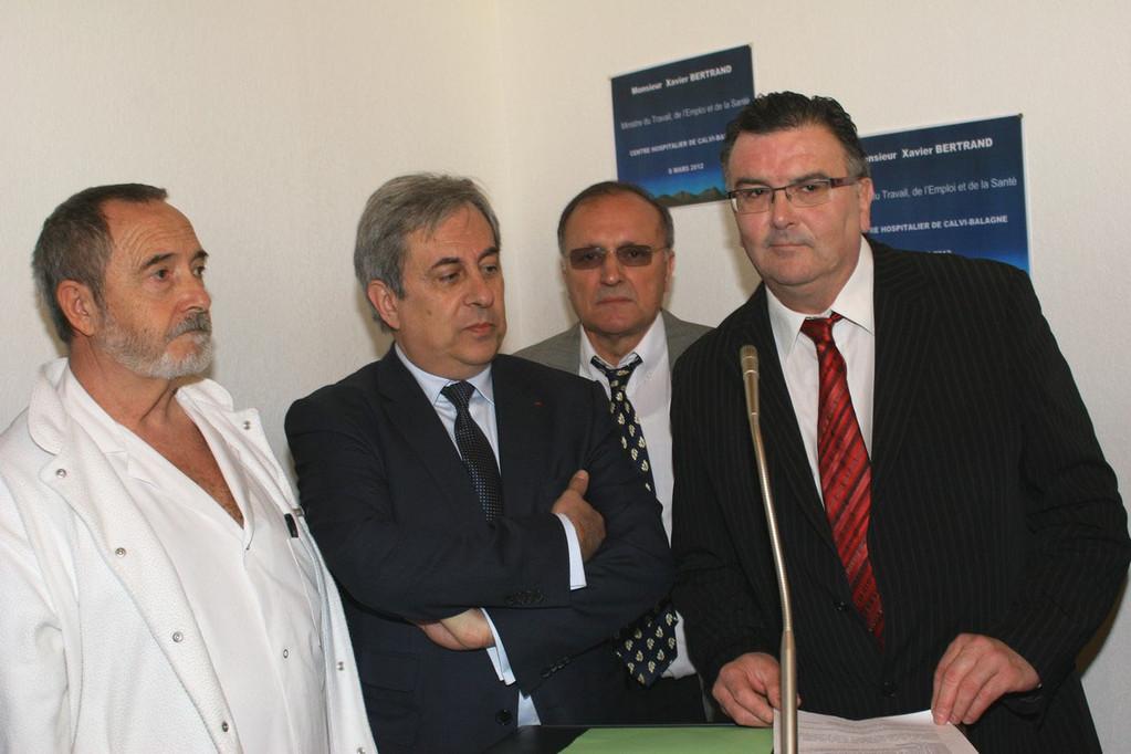 L'allocution du direceur du CH de Bastia, Jean-Michel Hue
