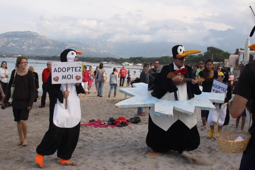 Les pingouins chanters
