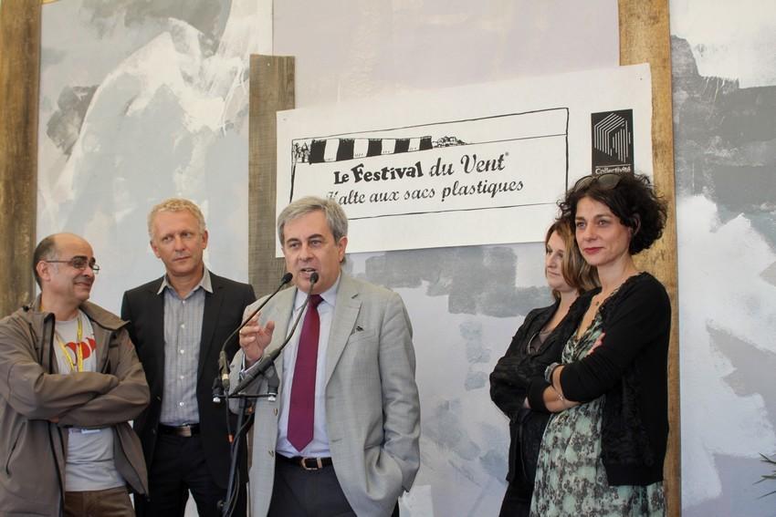 Ange Santini, le maire de Calvi, lors de son intervention