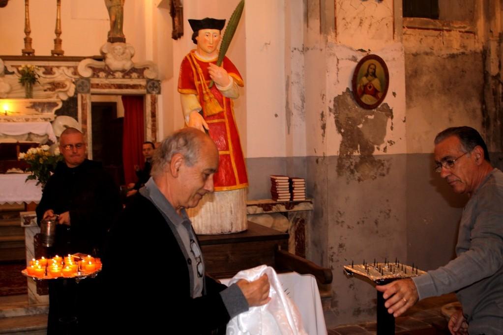 Toni Casalonga vient de dévoiler la statue de San Cesariu