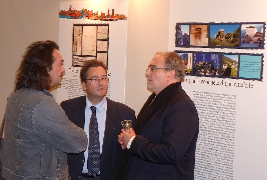 Marcel Fortini, Jean-François Kermer-Marietti et François Giacobbi