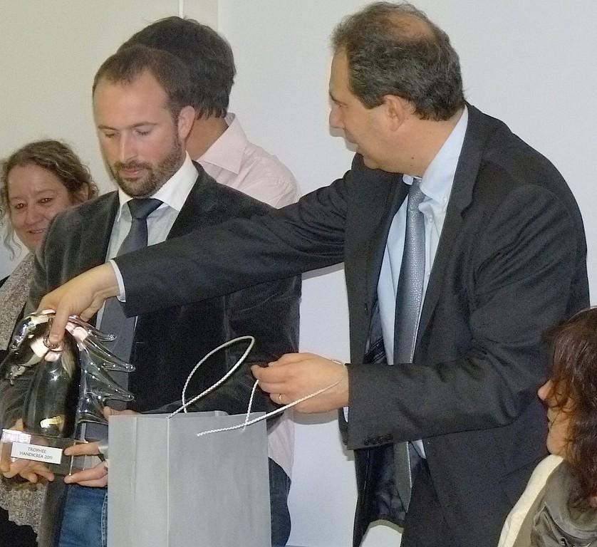 Le trophée Handicréa employeur a été décerné à la SAS Corsaire-Carrefour du Finosello à Ajaccio