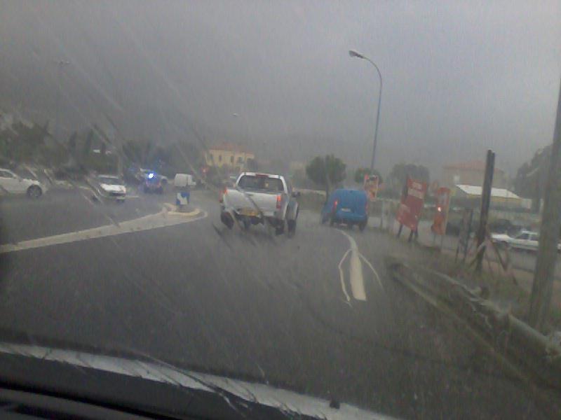 Sur la route les conditions de circulation sont très difficiles