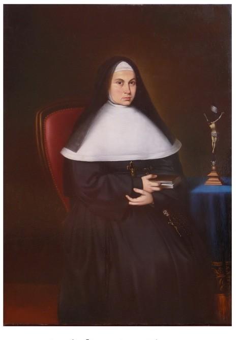 Le portait de Thérèse de Caraffa après restauration