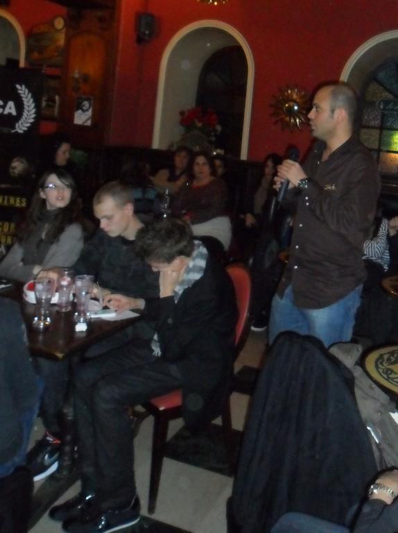 Lors du café philo Alma di Luce