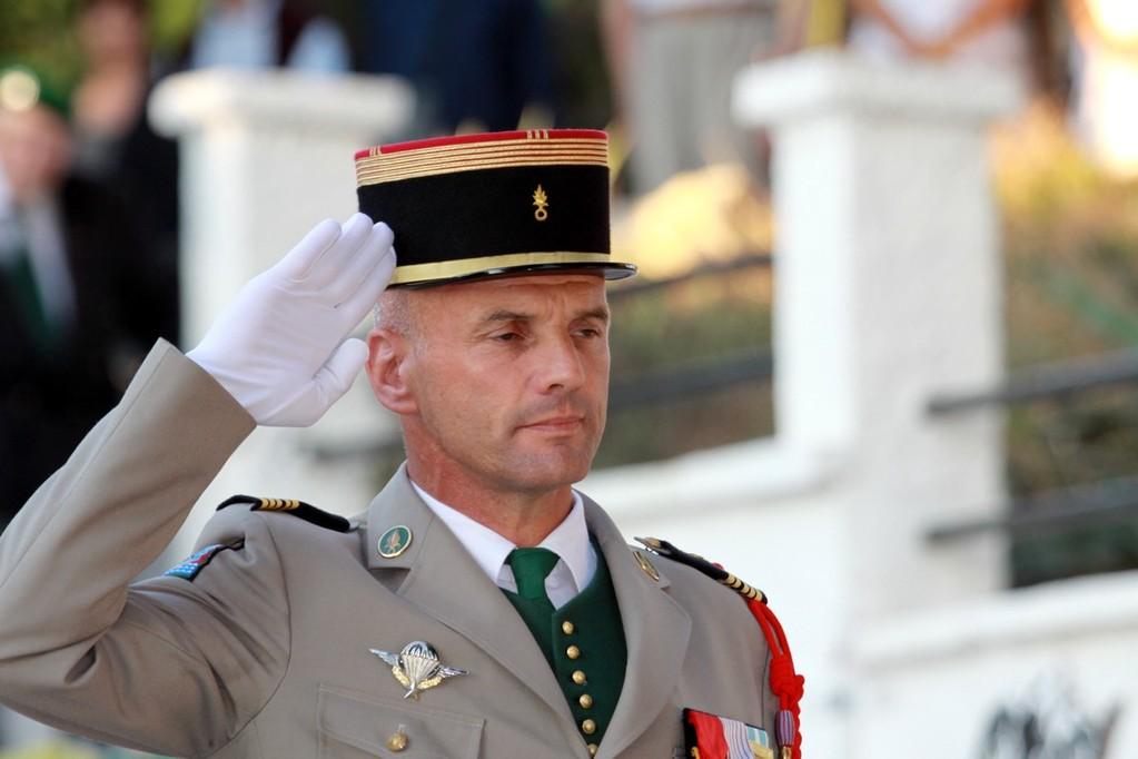 Le colonel Plessy, chef de corps du 2e REP