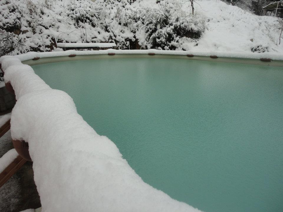 La piscine…