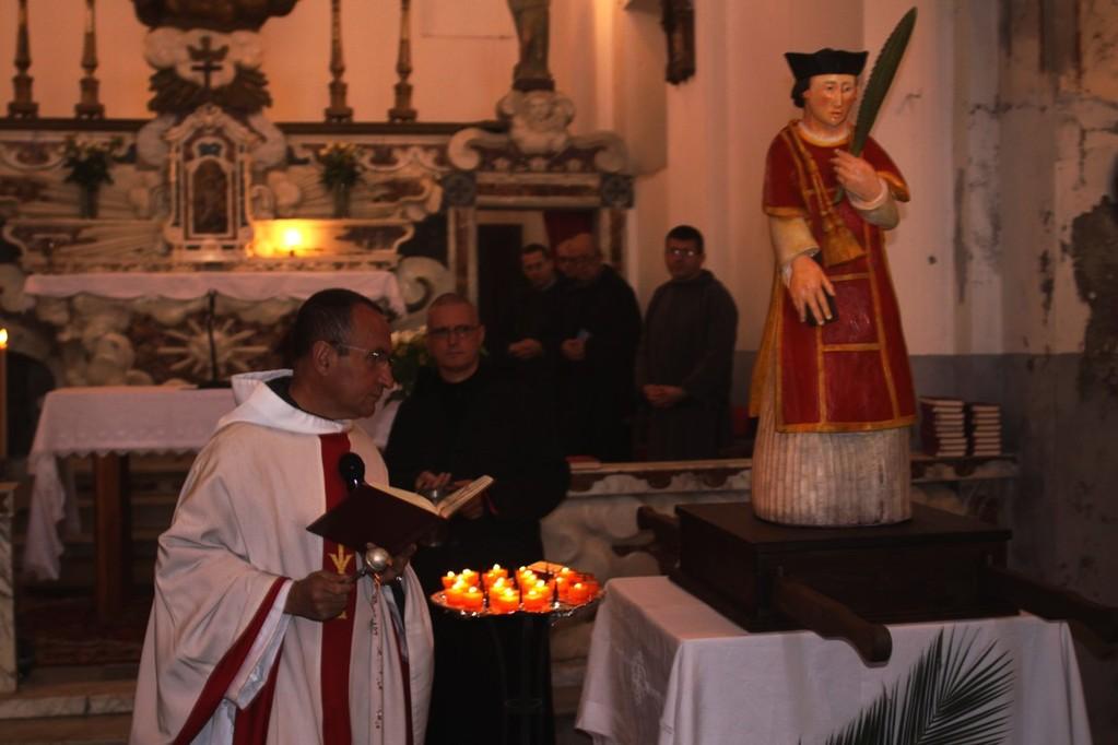 Le père Olivier Marie qui a présidé à la cérémonie