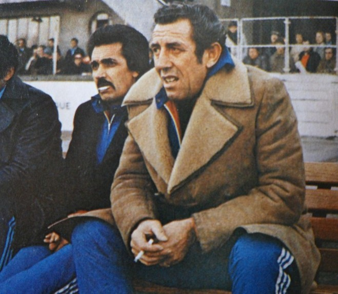 Pierre Cahuzac avec à sa droite Jules Filippi
