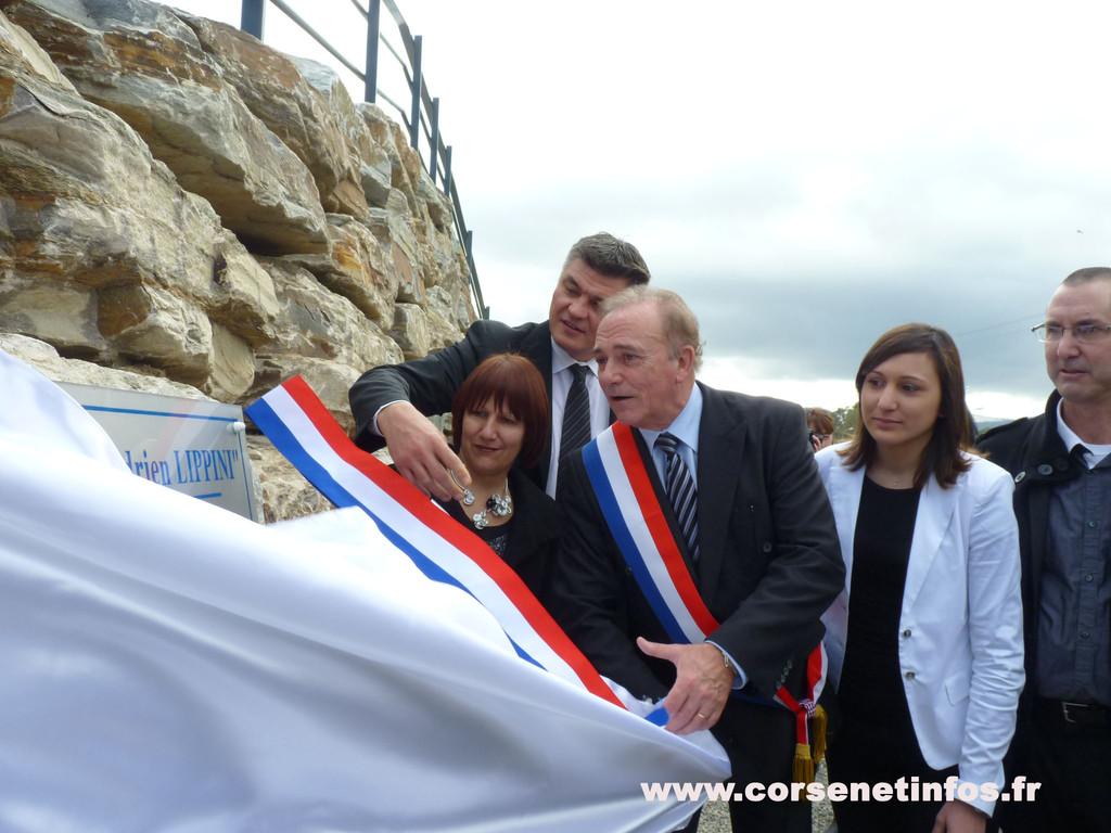 Moment d'émotion : l'inauguration de la piste qui porte le nom de Adrien Lippini…