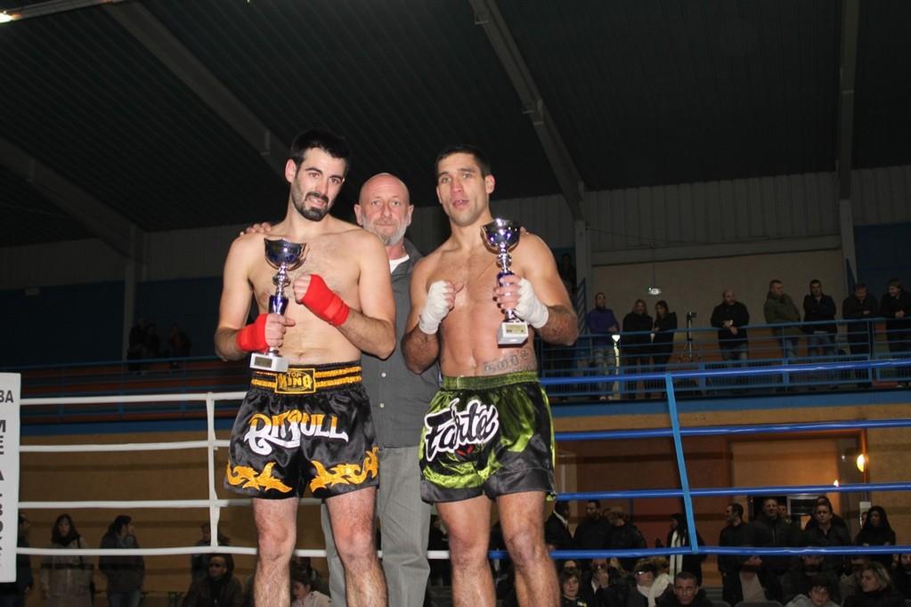 Grégoire et Devesa félicités par Raynald Amadei
