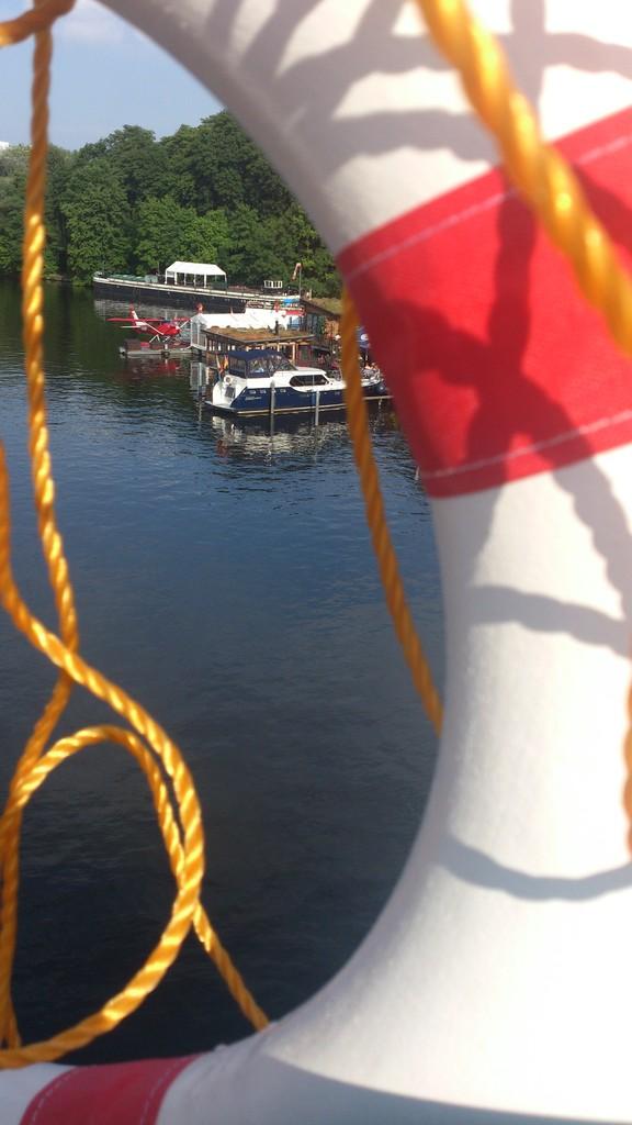 Treptower Park, vor unserem Schiff