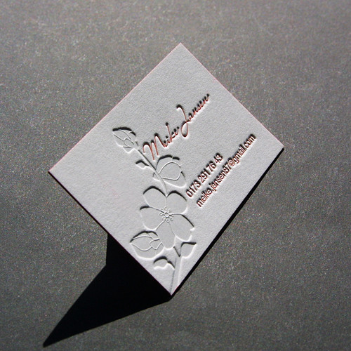 Visitenkarten Heißfolienprägung Blindprägung Letterpress