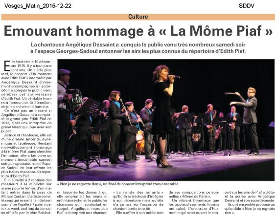 """Spectacle """"Môme de Paris"""" avec Arnaud Rouvellat"""