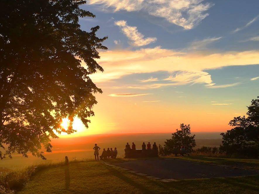 Sonnenuntergang auf dem Schwanberg mit Gabriele Haage