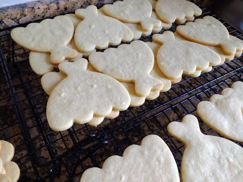 Decorated Sugar Cookies Wedding Dress shaped