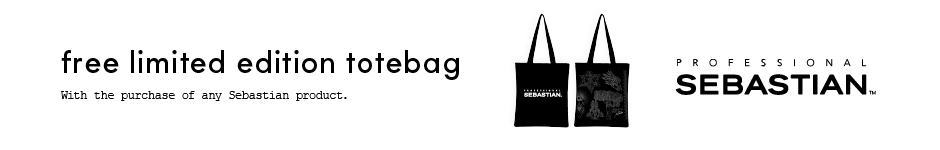 Free limited edition totebag with the purchase of any Sebastian product