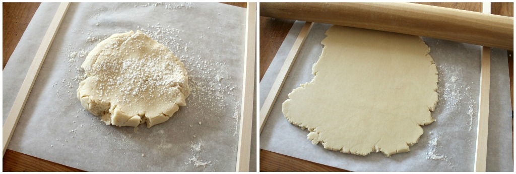 Using Dowels to achieve a consistent thickness of the cookie dough