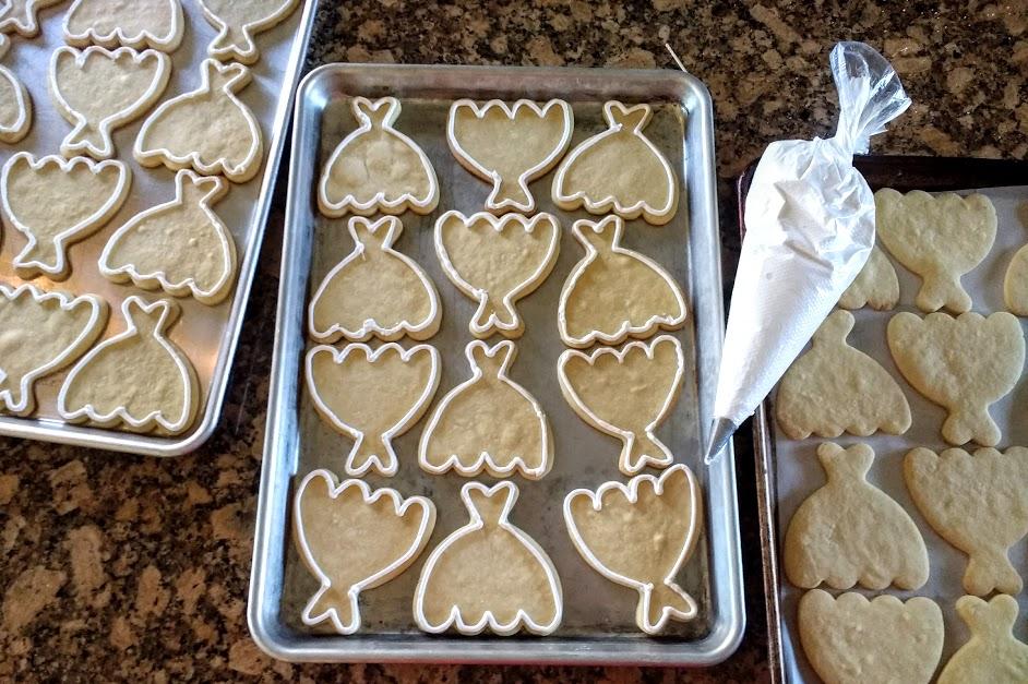 Wedding Dress decorated Sugar Cookies