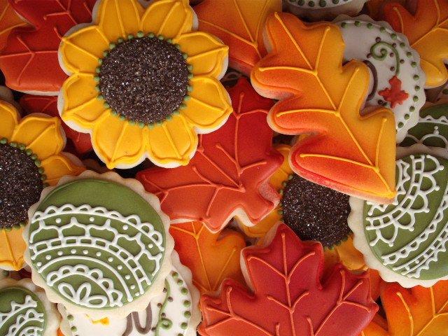 Autumnal shaped Sugar Cookies