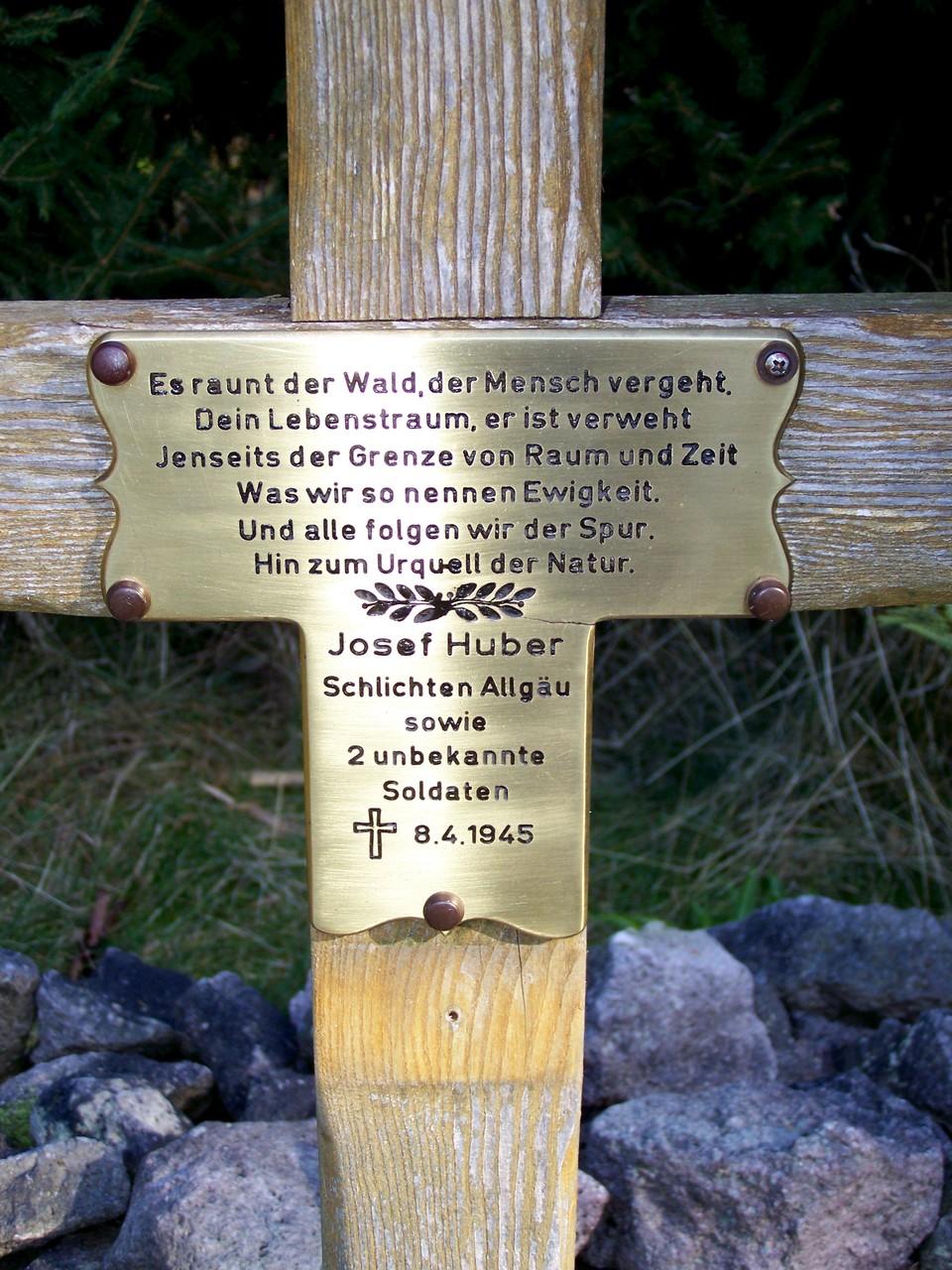 Soldatengrab am Bettelmannskopf