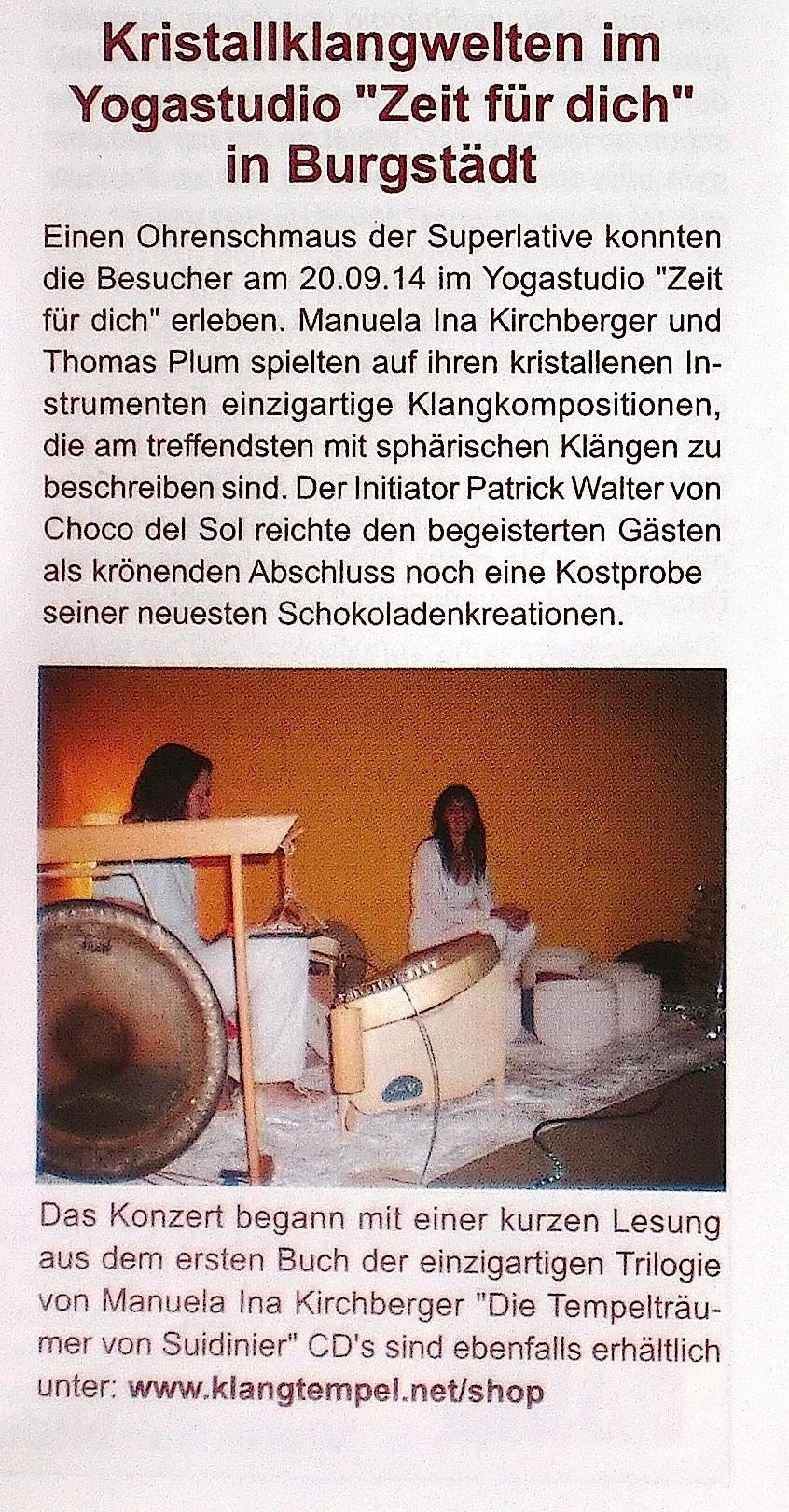v.l. Patrik Walter (Coco del Sol), Manuela Ina Kirchberger, Thomas Plum     (Trommelgeflüster 9/2014-)