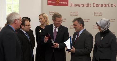 Besuch der Uni Osnabrück vom Bundespräsidenten Christian Wulff und dem türkischen Staatspräsidenten Abdullah Gül (20.09.2011)