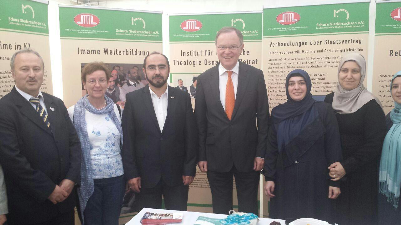 Infozelt bei den Feierlichkeiten zum Tag der deutschen Einheit (03.10.2014)