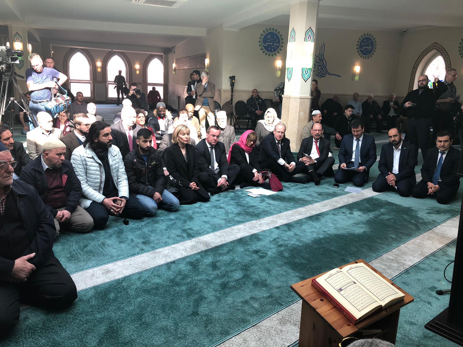 Gedenkveranstaltung an die Opfer des Terroranschlags in Neuseeland