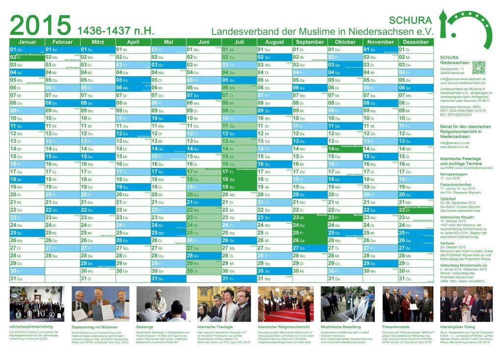 SCHURA Kalender 2015