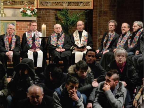 """""""bunt statt braun"""" - Friedensgebet in der Marktkirche (15.01.2015)"""