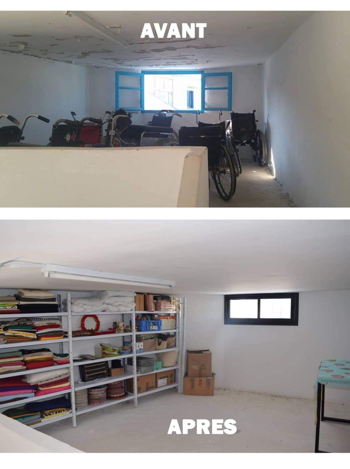 Tunisie. Financement de l'aménagement d'un atelier de couture pour handicapées. (Photo (3/5)