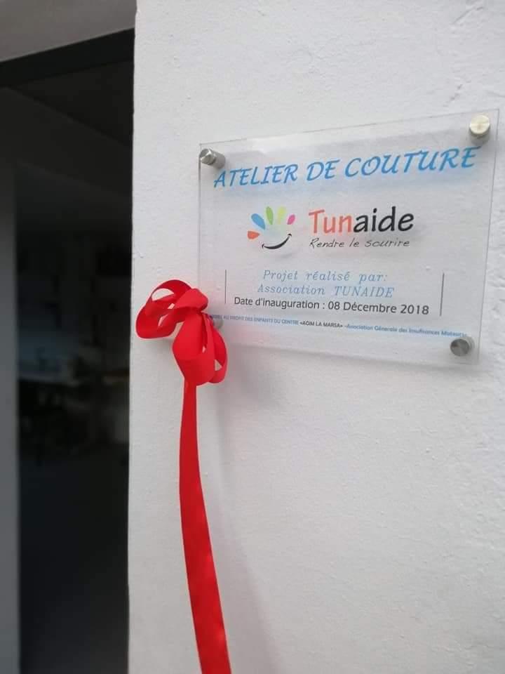 Tunisie. Financement de l'aménagement d'un atelier de couture pour handicapées. (Photo (1/5)