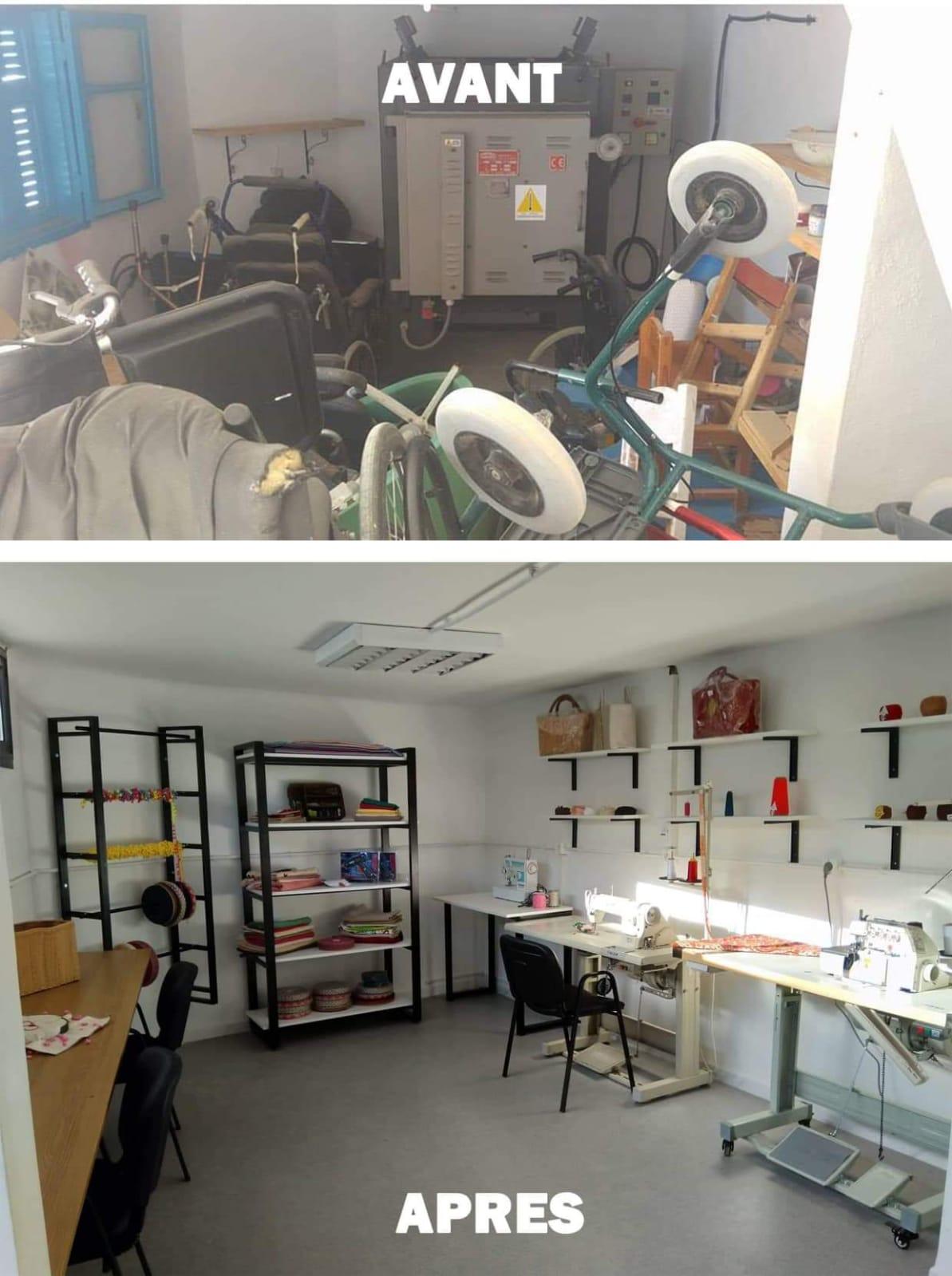 Tunisie. Financement de l'aménagement d'un atelier de couture pour handicapées. (Photo (5/5)