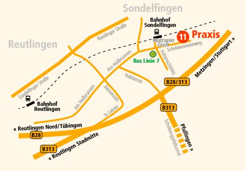 Anfahrtsweg Beschreibung
