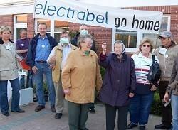 Protest gegen Electrabel