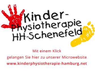 Logo & Webscreen unserer Microwebsite zum Thema Kinder-Ohysiotherapie, PTS Physiotherapie Schenefeld GmbH