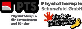 2 Logos: PTS Schenefeld - Physiotherapie für Erwachsene und Kinder im Einzugsbereich Hamburg-West von Blankenese bis Pinneberg