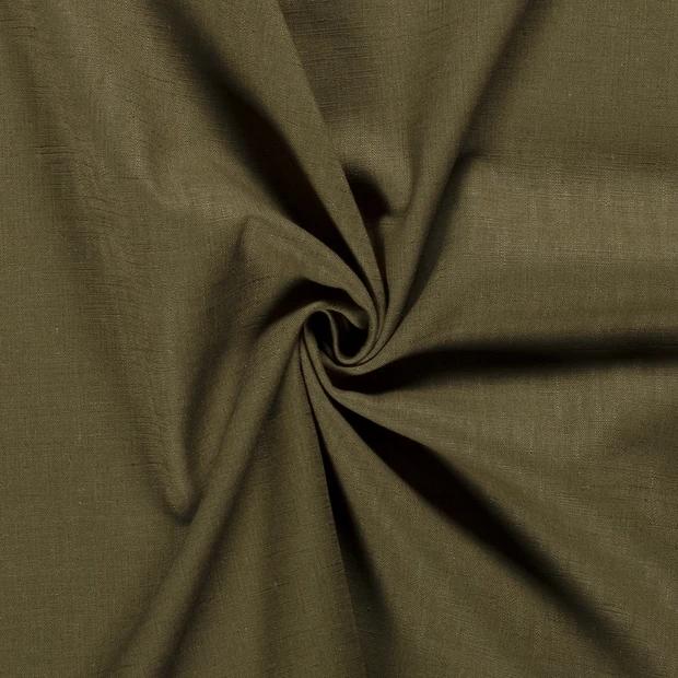 Leinen khaki, 140cm breit, 0.5m 7.00€