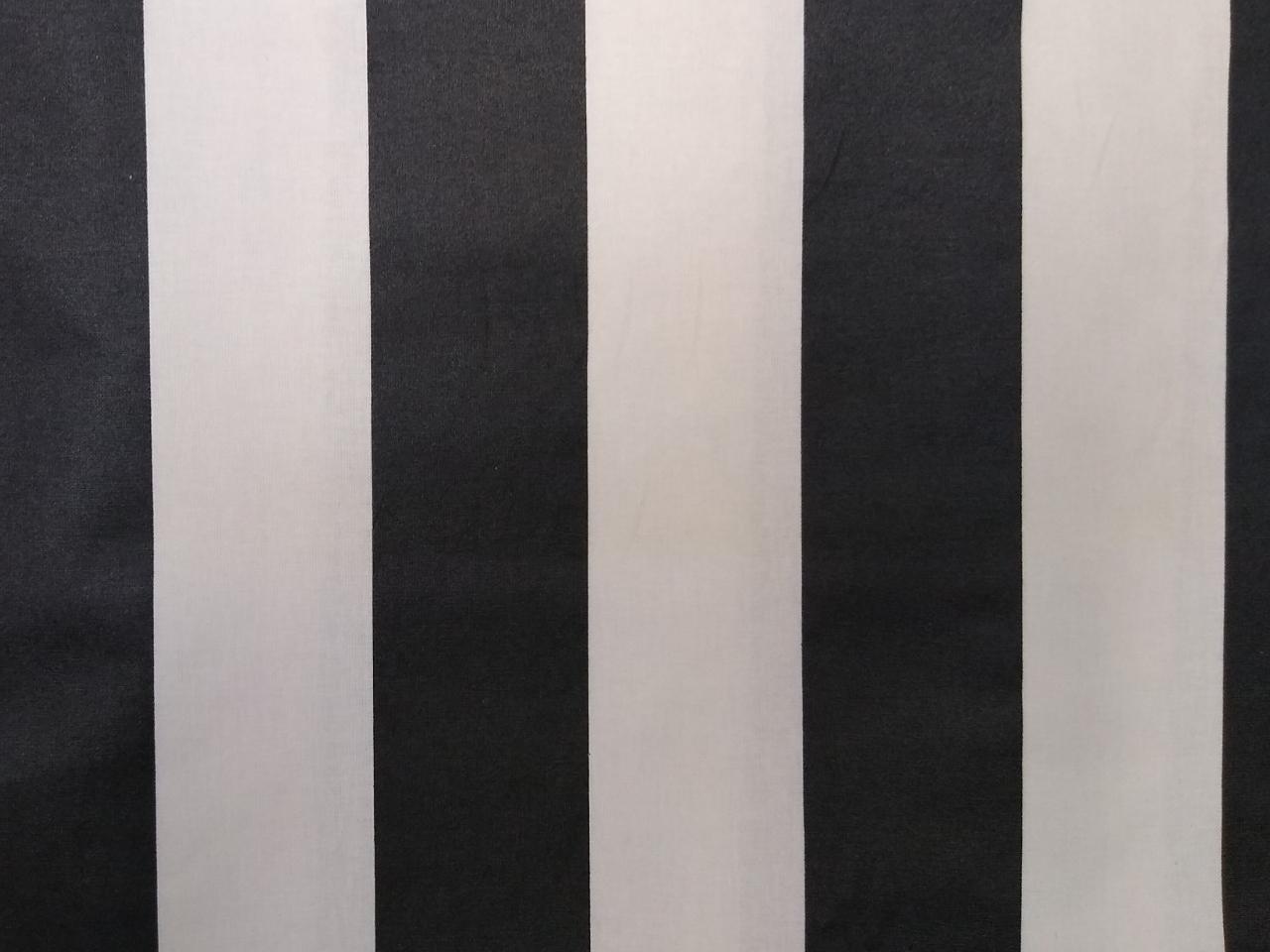 laminierte Baumwolle Blockstreifen schwarz weiß, 140cm breit, uni 0.5m 10.00€