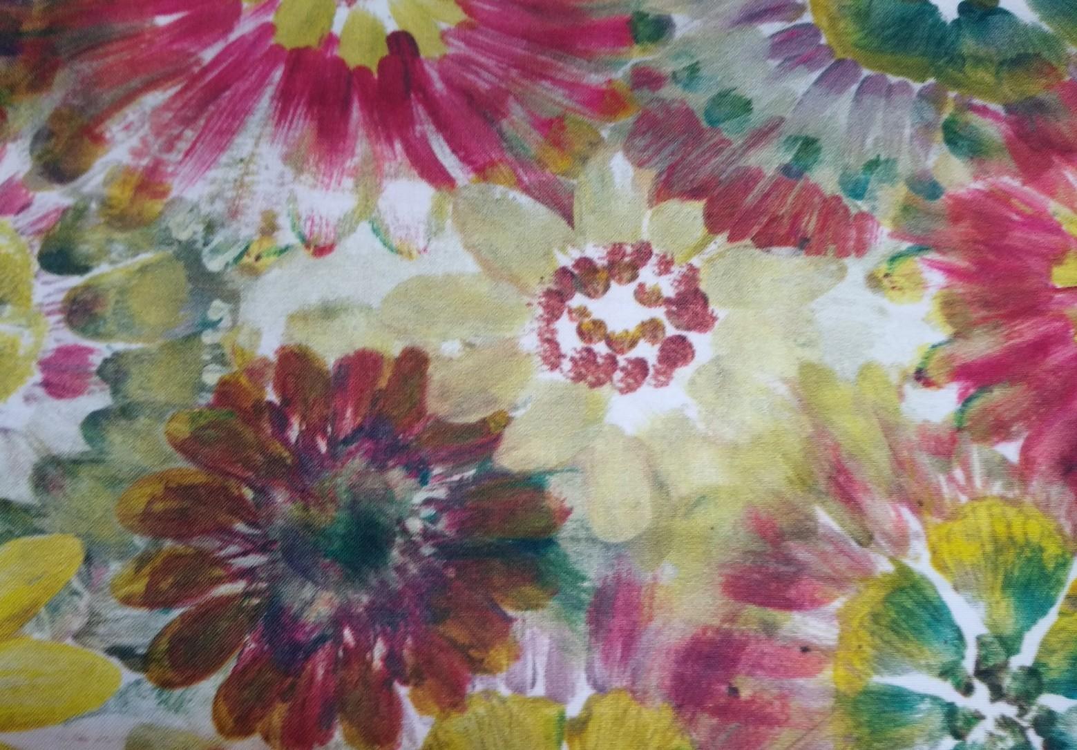 Baumwolle Blumen/ Blüten, 110cm breit, 0.5m 11.50€
