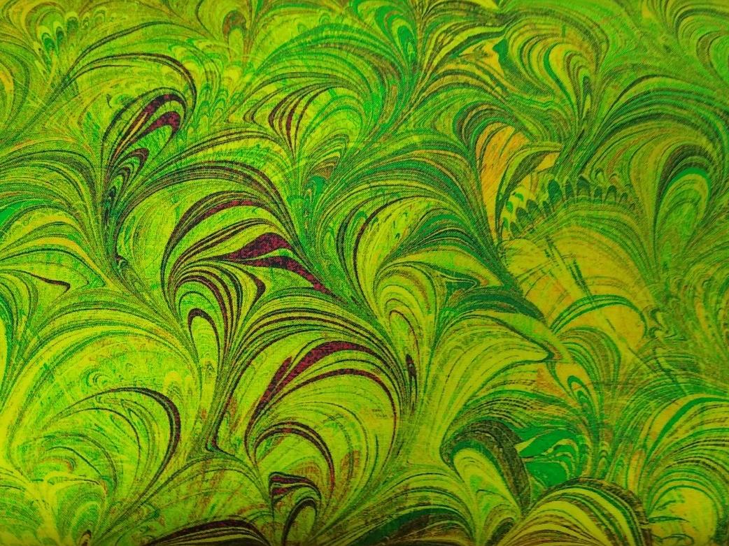 Baumwolle marmoriert grün, 110cm breit, 0.5m 10.50€