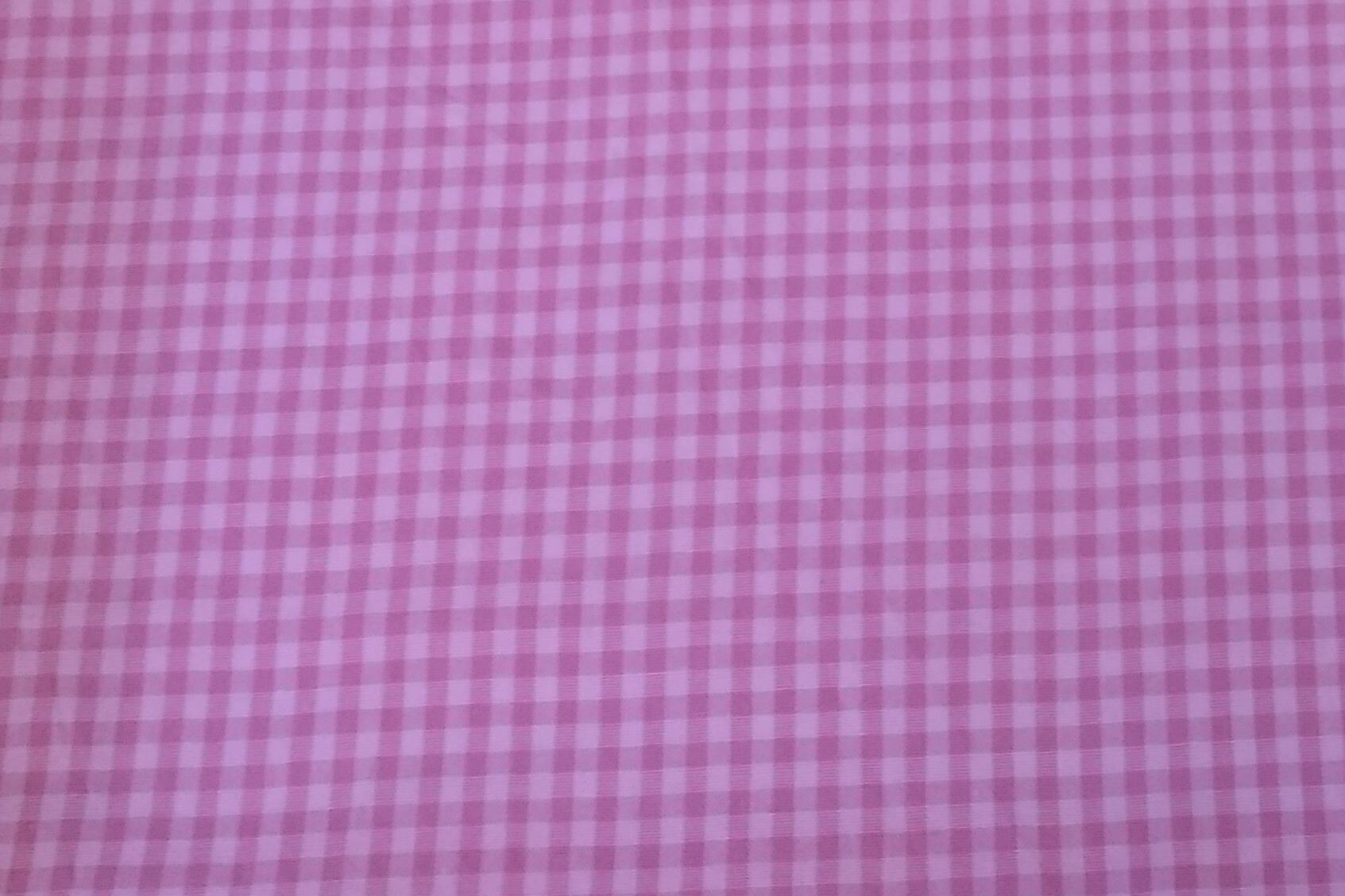 Baumwolle kariert/ Karo/ Kästchen, rosa/ weiß, 140cm breit, 0.5m 5,50€