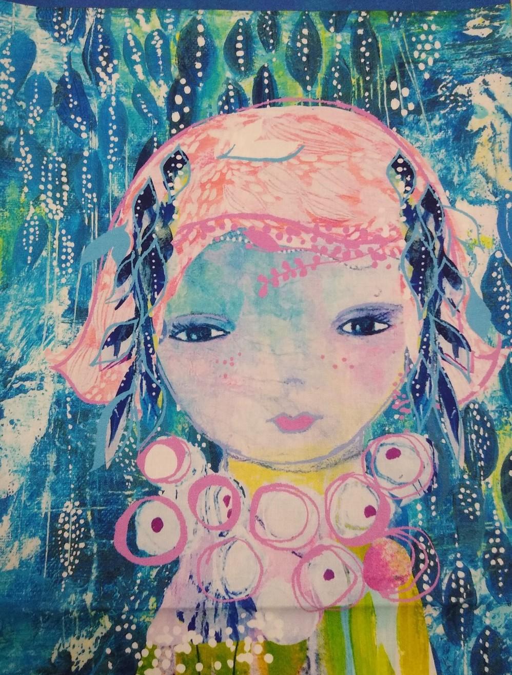 Baumwolle Mädchen Panel, 110cm breit, 0.6m 13.50€