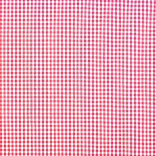 Baumwolle Karo weiß/ rot gewebt, 140cm breit, 0.5m 5.50€