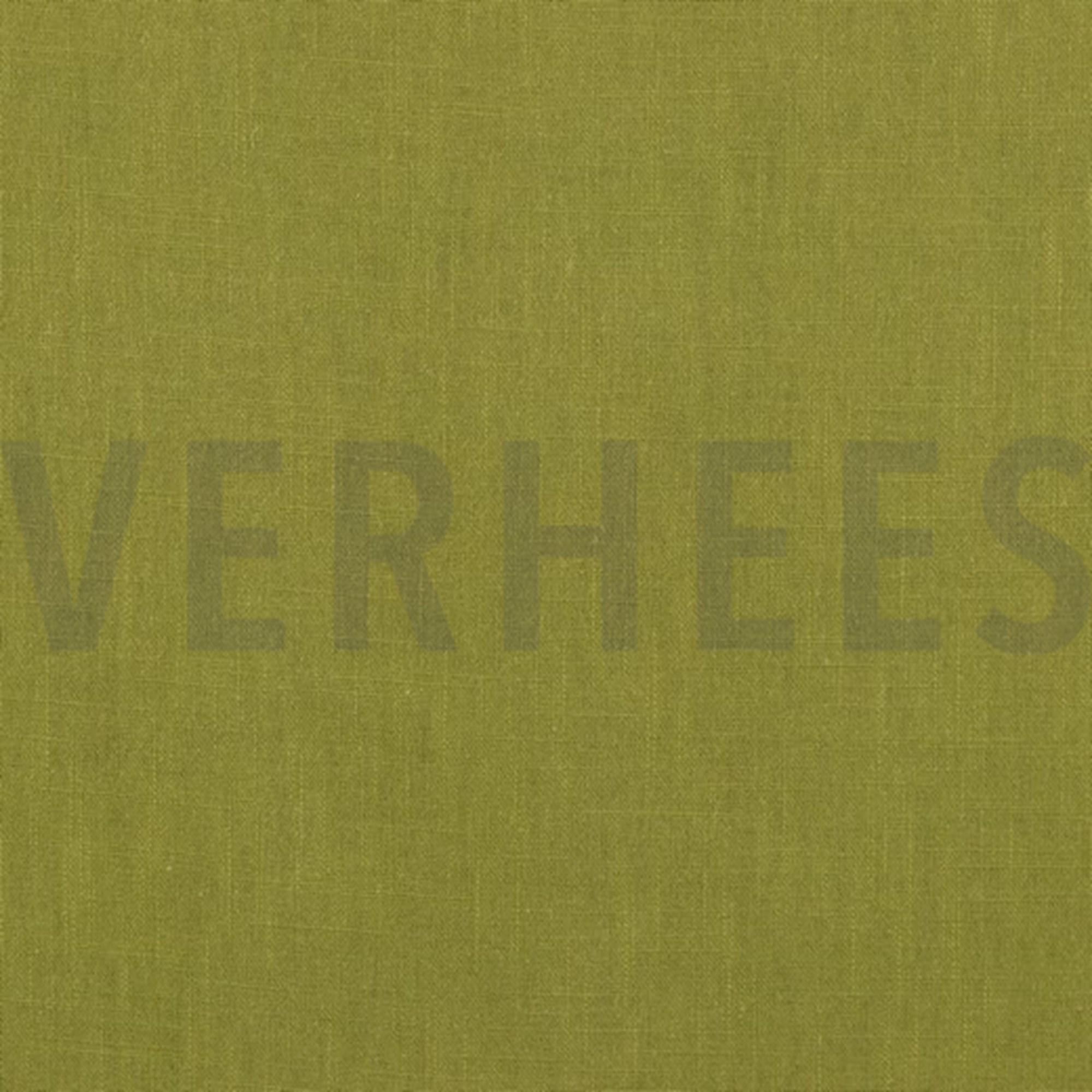 Leinen moosgrün, 140cm breit, 0.5m 7.00€