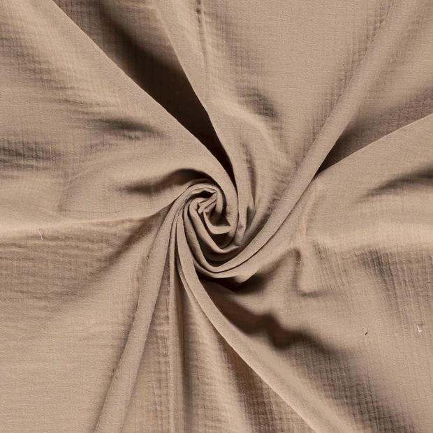 Musselin/ Double Gauze uni beige, 140cm breit, 0.5m 6.50€