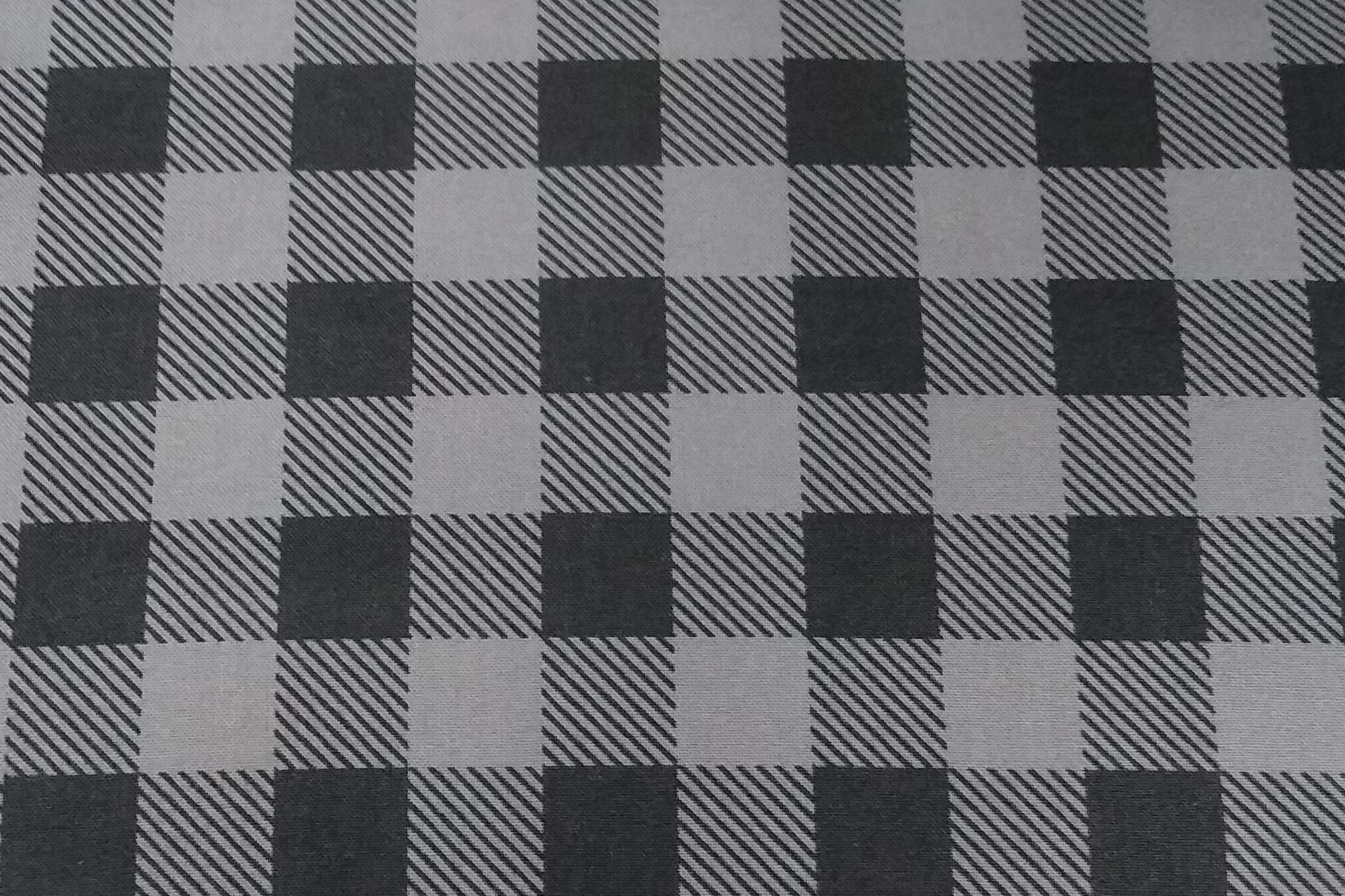 Baumwolle kariert/ Karo/ Kästchen/ Hipster/ Holzfäller, grau, 110cm breit, 0.5m 5,00€