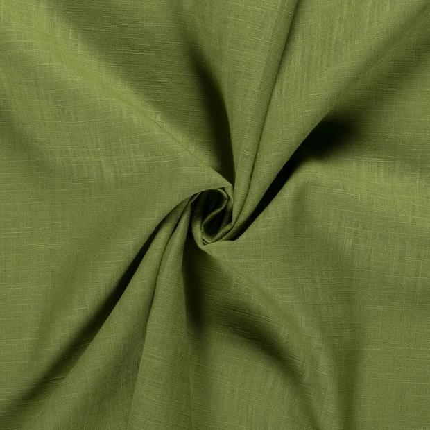 Leinen olivgrün, 140cm breit, 0.5m 7.00€