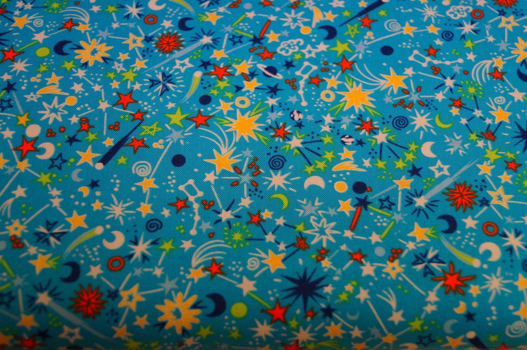 Baumwolle Feuerwerk/ Party, 110cm breit, 0.5m 10.00